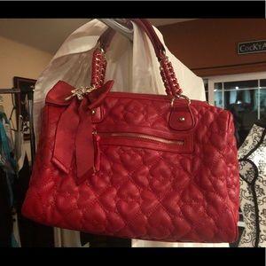 Betsy Johnson red satchel